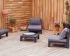 Terasy z agátového dreva